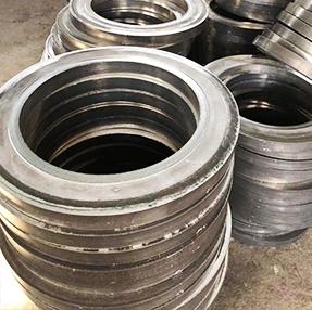 Forging of aluminium flange blank